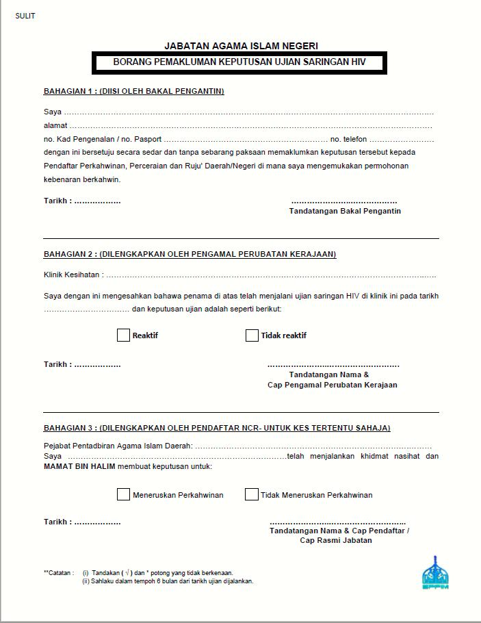 Ujian Saringan Hiv Untuk Bakal Pengantin Kursus Kahwin Labuan